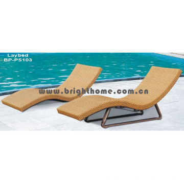 Muebles de mimbre de ratán Sun Lounge Muebles de exterior