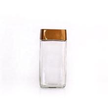 empty storage 400ml 100g coffee glass bottle with screw plastic lid