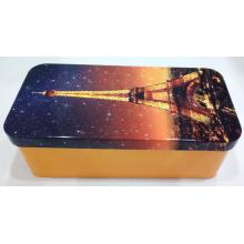 Custom Metal Rectangular Tea Tin Box