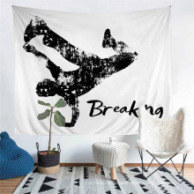 Hand Made Tailor Polyester Tapestry with Printed Street Dance Hip Hop Pattern