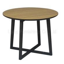 (SP-RT519) Modern Cross Base Round Laminated Wood Hotel Table
