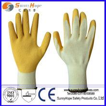 Luvas de trabalho revestidas de látex / nitrilo / PVC / PU