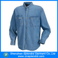 Design Personality Fashion Long Sleeve Denim Shirt for Men
