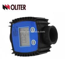 Medidor de fluxo de água de combustível digital 10-120L / MIN K24 medidor de turbina eletrônico