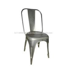 Chaise de salle à manger en violoncelle en métal industriel et vintage
