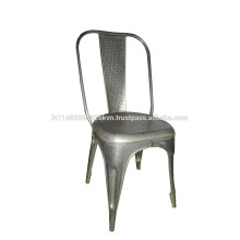 Industrial and Vintage Iron Metal Cello Dining Chair