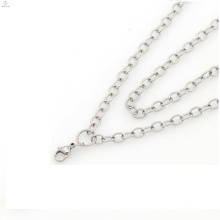 Crystal locket necklace,women female fashion silver thin chains necklaces,jewelry chain making machine