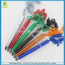 2015 new cute lanyard touch stylus pen