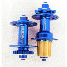 Centres de vélo de montagne moyeux de disque de vélo moyeux de vélo super légers avec dégagement rapide 32 trous bleu
