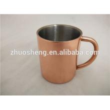 Antique copper mug with logo moscow mule mug