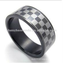 Moda lattice estilo 316L S.Steel anéis de jóias