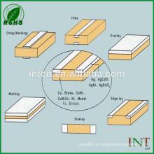 fita de bimetálico de liga metálica prata tampa cobre
