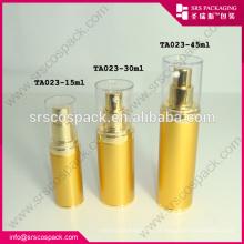 China Garrafa Airless Plating 30ml Garrafa de Alumínio Capacidade Atacado
