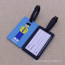 Bulk High Quality Lovely Design Travel Soft PVC Luggage Tag with Logo