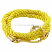 Wholesale Fashion Jewelry Anchor Accessories Make DIY Rope Bracelet with Silver Hook Bracelets