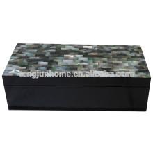 CBM-BPSBL Seashell Furniture Black Mother of Pearl Accessory Box