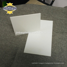 JINBAO 4mm 6mm thick white hard rigid pvc plate 1.3-1.8 density