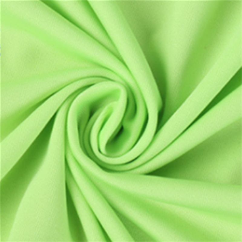 Practical Green Four Side Stretch Knitted Polyester Fabrics 4