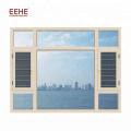 Fenêtre en verre coulissante de cadre en aluminium pour le salon ou la villa