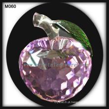 maçã de cristal novo cristal de presente de Natal