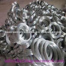 Q195 Eletro galvanizado de fio de ferro / construção do fio de ligação, BWG 21