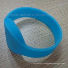 Bracelet en silicone en caoutchouc RFID intelligent personnalisé