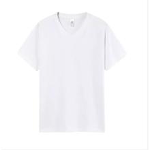 Herren Damen Unisex VEE Hals Baumwolle T-Shirts