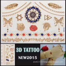 OEM gros tatouage à effet coloré en 3D tatouage tatouage adhésif auto beau design pour le corps YH 025