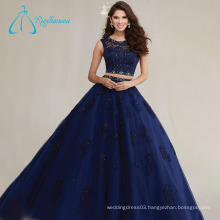 Scoop Floor Length Lace Appliques Real Sample Quinceanera Dress