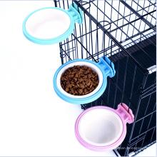 Bol d'alimentation de cage pour le petit animal de compagnie, plat de bol d'alimentation d'eau de nourriture avec le support de boulon pour l'oiseau de chat de chien d'animal familier