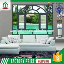 Fenêtre à battant en aluminium avec fenêtres extérieures décoratives