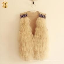 Chaleco verdadero del cordero de la piel del pelo suave mongol tibetano al por mayor