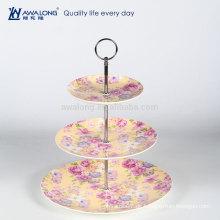 Drei Ebenen Gelb Malerei Blume Zeichnung Royal Nachmittag Platten, Tee Set Porzellan