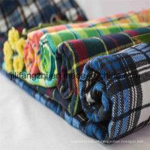 Tela de franela impresa y teñida franela de algodón de la fábrica de China / Tc / CVC