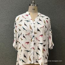Camisa de algodão moda feminina