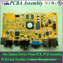 fr4 94v-0 pcb assemblage avec masque de soudure marron et double face pcba