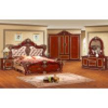 Mobília clássica do quarto com cama do rei / cama do quarto (w802)