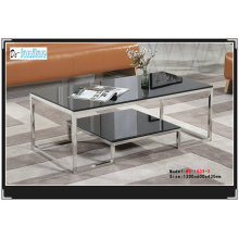 High Quality Black Tempered Glass Table (WG-503)