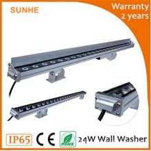 Dongguan niedrigster Preis Größe kundenspezifische Scheibe 24w IP65 Außen LED-Wand-Unterlegscheibe Licht für Projekt