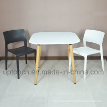 Wholesale Plastic Furniture Restaurant Set with Black and White Color Chair (SP-CT345)