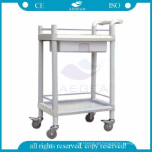 AG-UTA08 approved abs medical hospital utility plastic trolley cart