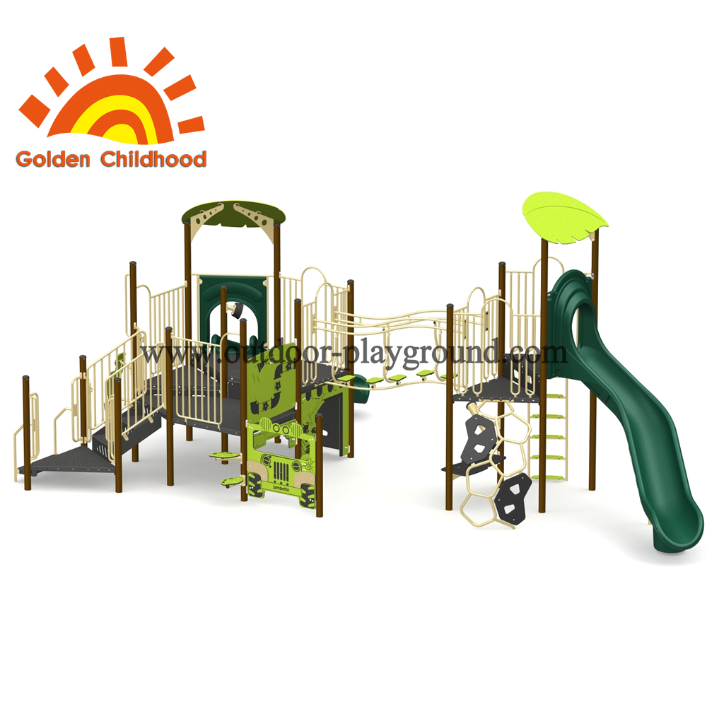 Green Outdoor Playground Equipment