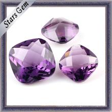Violet Cushion Cubic Zirconia Stones