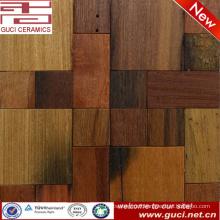 Natural Old Boat Wood Mosaic Tile For bar Wall And living room Wall