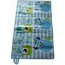 PP Woven Playing Mat Promotion Picnic Mat with Handle