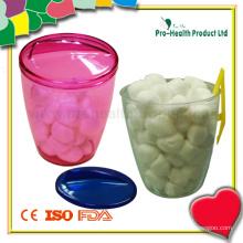 Ballon de coton stérilisé médical avec distributeur de plastique