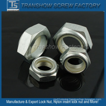 White Zinc Plated Class 8.8 Hex Nylon Insert Lock Nut