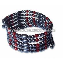"Agate vermelho magnético Beaded wrap Bracelets & Necklace 36 """