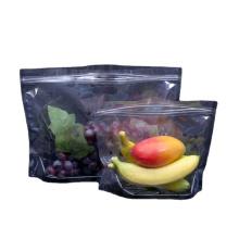 Plastic Opp Reusable Zip Lock Fresh Vegetable Lettuce CarrotsPackaging Bag With Holes