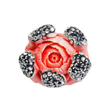 Fashion Red Flower Shape Coral Bead Jewelry Accessory DIY 25 * 25mm